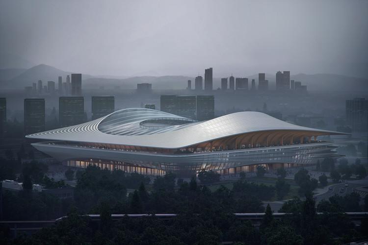 Zaha Hadid Architects publica imágenes de su nuevo estadio de fútbol en Xi'an, Cortesía de Zaha Hadid Architects