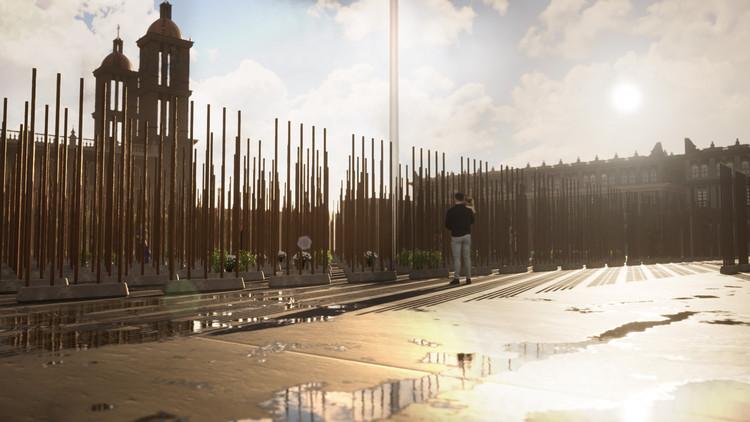 """Rojkind Arquitectos Proposes A """"Mourning Claim"""" Memorial for Coronavirus Victims, © Rojkind Arquitectos"""