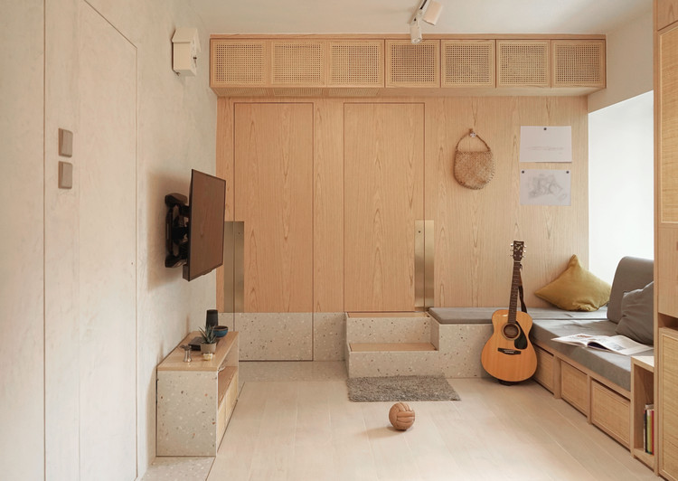 Rattan in Concrete Jungle Apartment / Absence from Island, © Chi, Ireen Sit