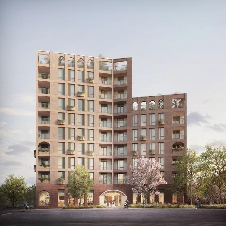 Curl la Tourelle Head Designs 100% Social Housing Scheme in the London Borough of Brent, Morland Gardens by Curl la Tourelle Head Architecture. Image © Darcstudio