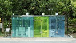 Baño público del parque comunitario Haru-No-Ogawa / Shigeru Ban Architects