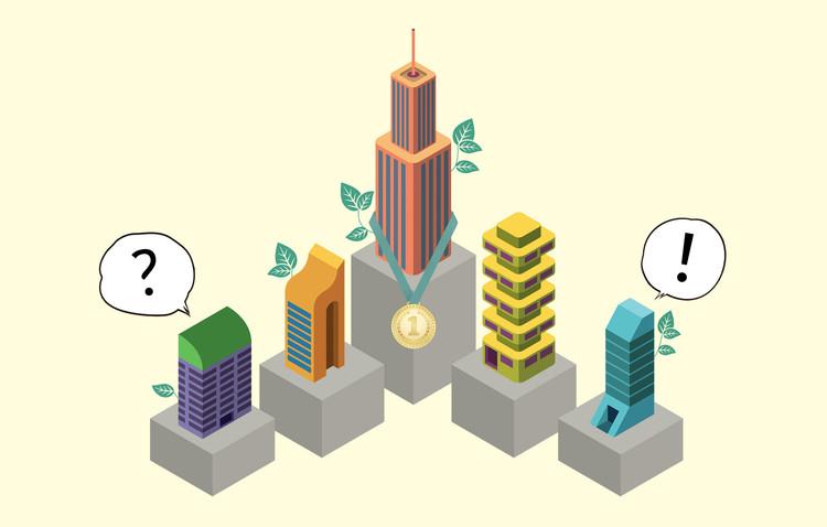 Edificios en evaluación: 12 certificaciones de construcción sostenible, Building illustrations by Radoman Durkovic. Image © ArchDaily