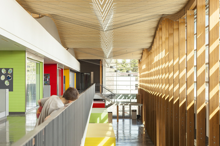 Samuel Brighouse Elementary School. Image © Andrew Latreille. Courtesy of Perkins + Will and naturally:wood
