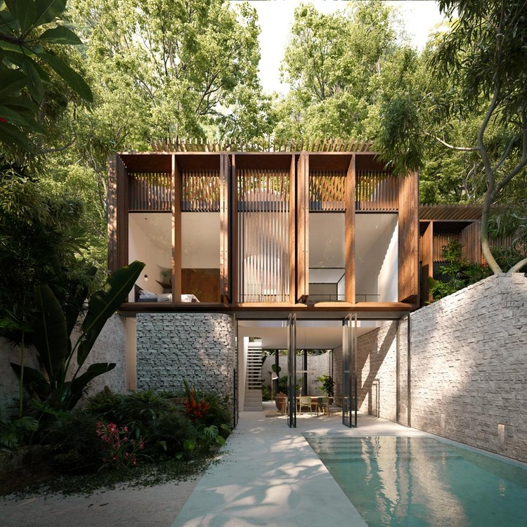 Residencias K'in en Tulum / Holland Harvey Architects, © Studio Archetype