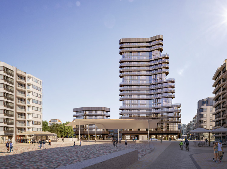 Neutelings Riedijk Architects Imagines One of the Highest Towers Along the Belgian Coast, © SALT / G2 architectural graphics, courtesy of Neutelings Riedijk Architects