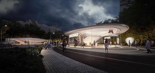 Klenoviy Bulvar 2 Station- 1st Place. Image Courtesy of Zaha Hadid Architects