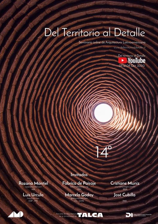 Del Territorio al Detalle: 14º Seminario Internacional de Arquitectura , fotografia: Gustavo Burgos, Propuesta Gráfica: Felipe Miño.