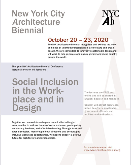 New York City Architecture Biennial, NYC Architecture Biennial Online Lecture series