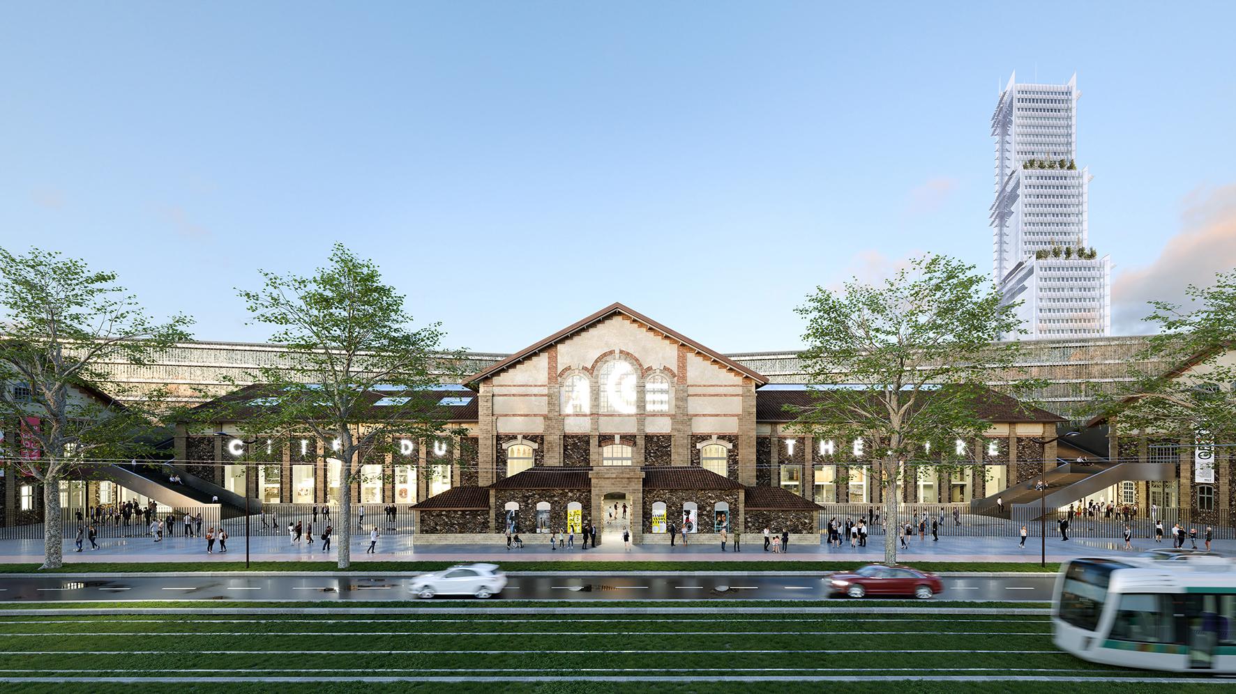 Nieto Sobejano Unveils Elevated Garden Plan and Urban Stage for Paris