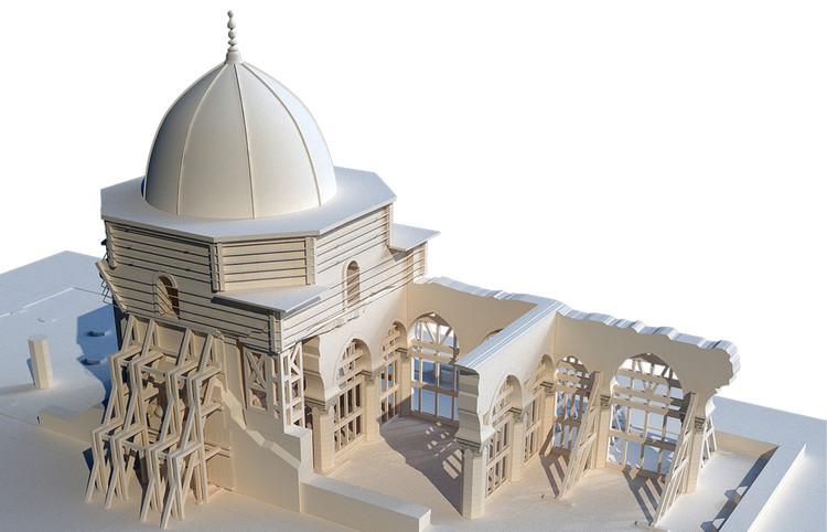 3D Model of Mosque Today. Image © UNESCO