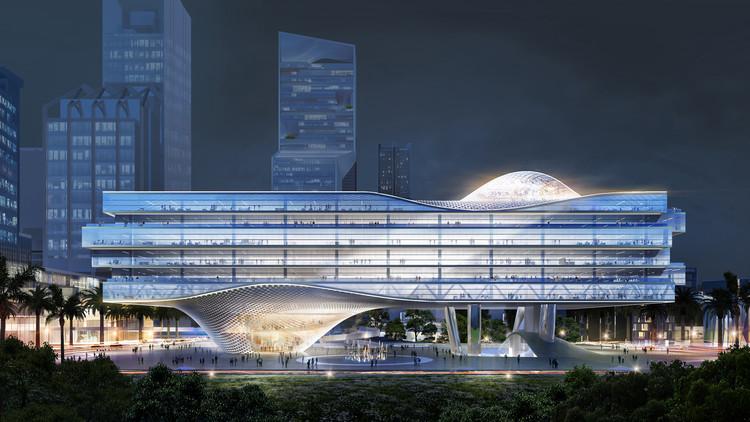 Büro Ole Scheeren Imagines ZTE Headquarters, a New Symbol for China's Digital Revolution, © Buro-OS