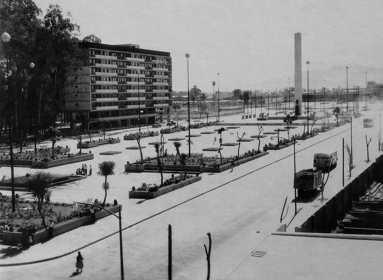 Un homenaje al arquitecto Julio de la Peña, pieza clave en la construcción de Guadalajara, Plaza Juárez, 1962. Image © Archivo Arquitectos Jaliscienses. Julio de la Peña Lomelín