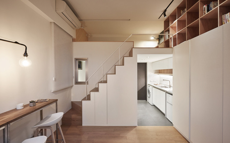 22m2 Apartment in Taiwan / A Little Design. Image © Hey! Cheese