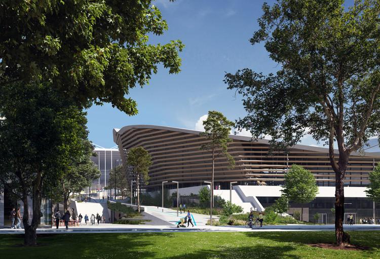 VenhoevenCS and Ateliers 2/3/4/ Win Competition to Design the Aquatic Center for Paris 2024 Olympics, © Architecture: VenhoevenCS & Ateliers 2/3/4/ Image: Proloog