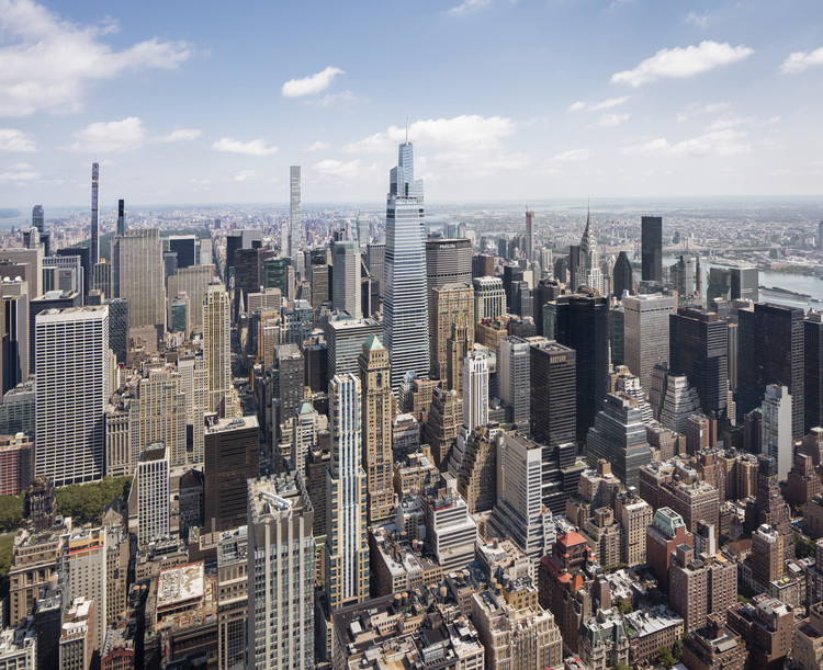 KPF Completes Tallest Office Tower in Midtown Manhattan, Courtesy of KPF