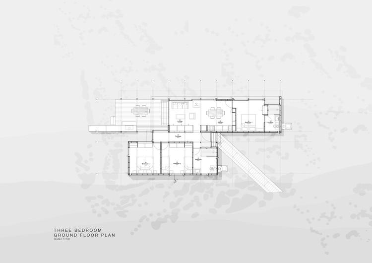 Three Bedrooms Ground Floor Plan