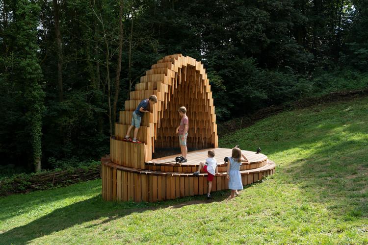 Instalação Rain Amplifier  / Matthijs la Roi Architects, © naaro
