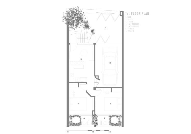 1ST FLOOR - Jalousie House - mái che kéo thiên nhiên vào nhà