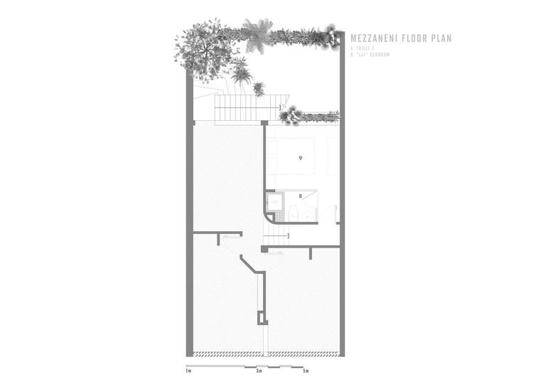 MEZZANENI FLOOR - Jalousie House - mái che kéo thiên nhiên vào nhà