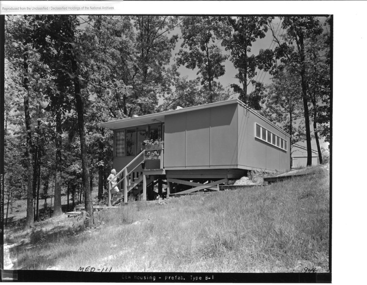 Flat Top House, Oak Ridge, 1944. Image Courtesy of National Archives and Records Administration