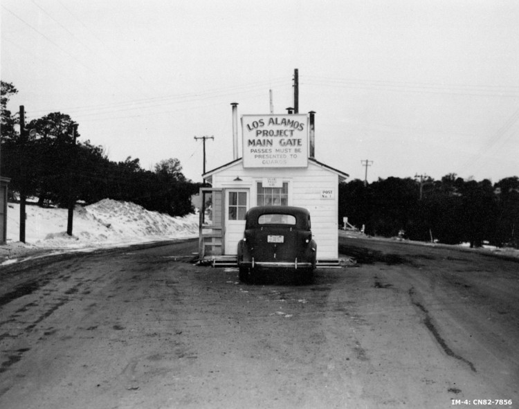 Entry sign to Los Alamos. Image Courtesy of National Archives and Records Administration
