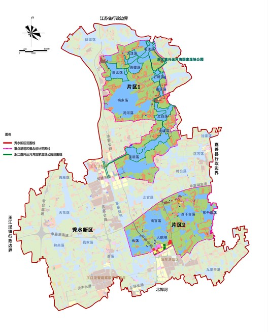 Conceptual Design Scope Map of Key Shallow Lake Area in Xiushui New District