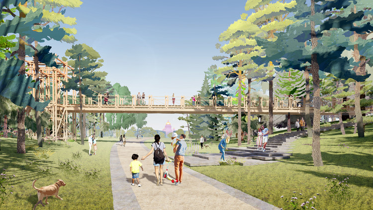 Studio 44 and WEST 8 Win the Tuchkov Buyan Park Competition in Saint Petersburg, Russia, Courtesy of Studio 44 and West 8