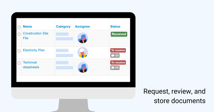 Request, review, and store documents. Image © ArchiSnapper