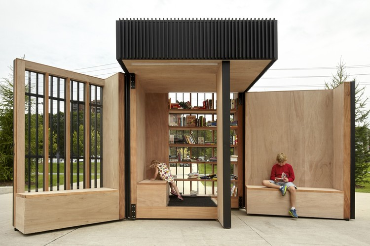 6 Small Scale Projects with Large Social Impact, Story Pod Library / Atelier Kastelic Buffey. Image: © Shai Gil