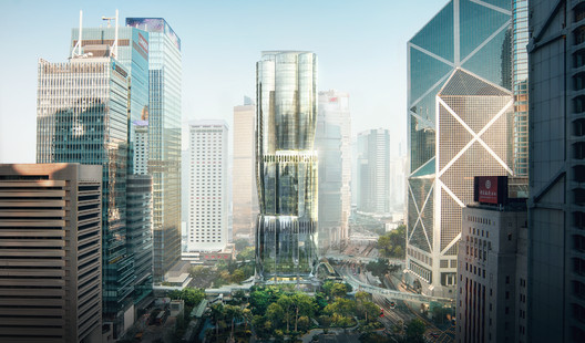 Zaha Hadid Designs 2 Murray Road, Replacing a Multi-Story Car Park in Hong Kong