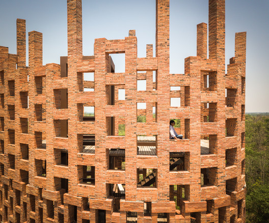 Brick Observation Tower - Elephant World  / Bangkok Project Studio