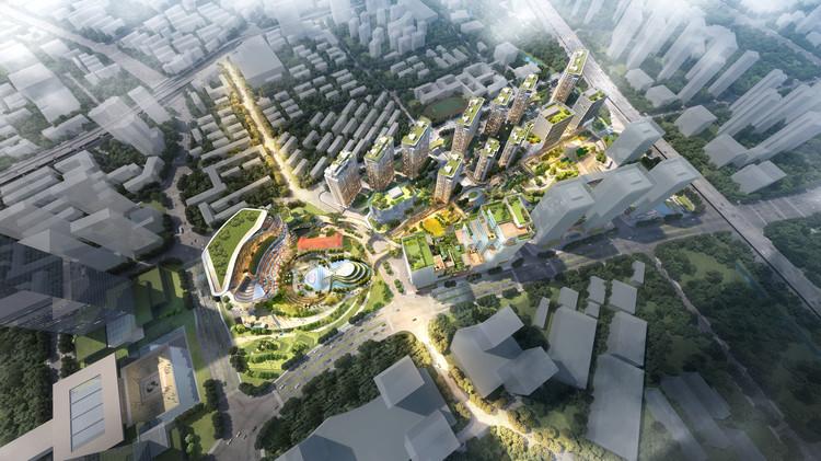 Shigeru Ban e Ole Scheeren projetam masterplan cultural em Hangzhou, China, Cortesia do projeto Hangzhou Wangjiang New Town