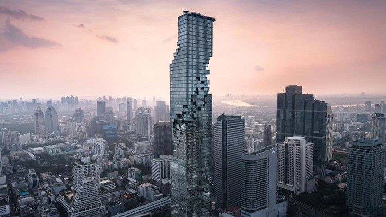 CAC Live: Re-imagining the Skyscraper with Ole Scheeren, MahaNakhon in Bangkok. Photo by Iwan Caan. Courtesy of  Buro Ole Scheeren.