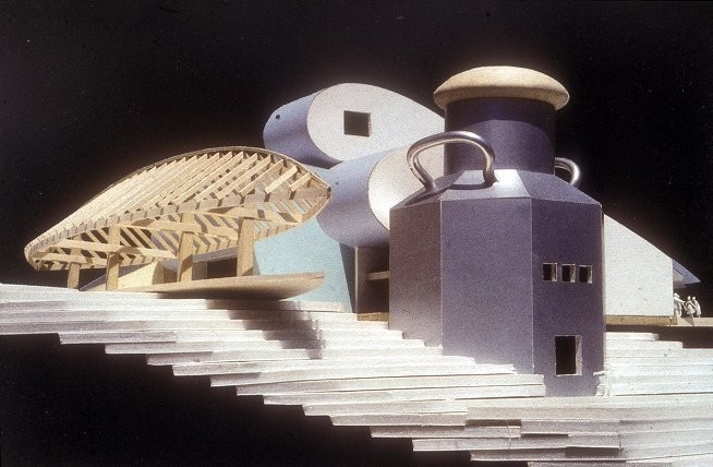 Frank Gehry's Unbuilt Camp for Good Times . Image © University of Pennsylvania Digital Library
