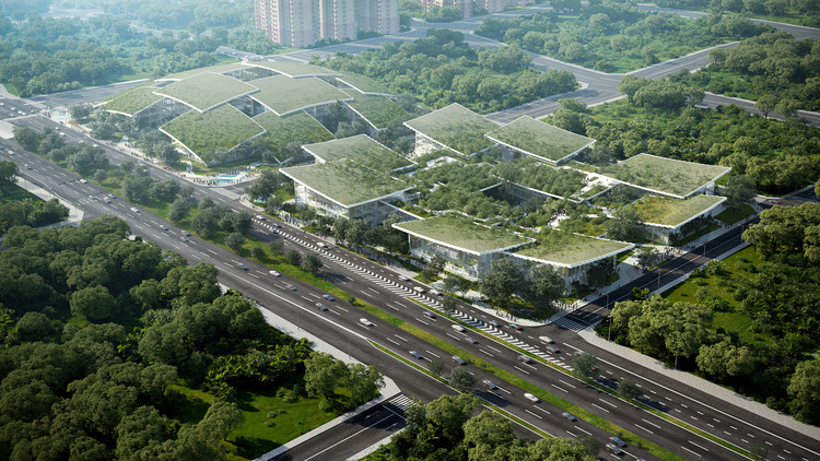 BIG Designs AI CITY, an Innovation Campus Hosting Headquarters of Tech Firm in Chongqing, China, Courtesy of Lucian R and BIG