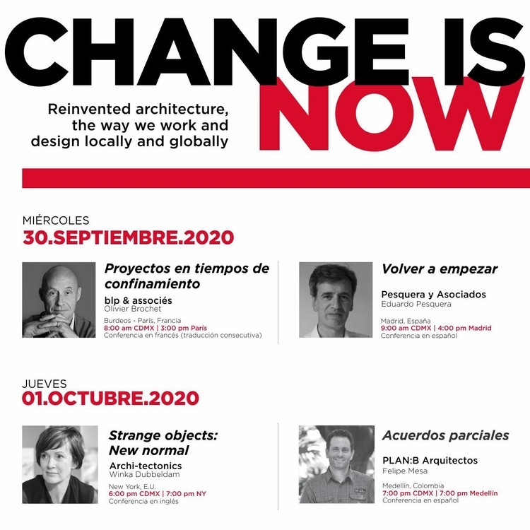 Ciclo de conferencias | CHANGE IS NOW | Firenze