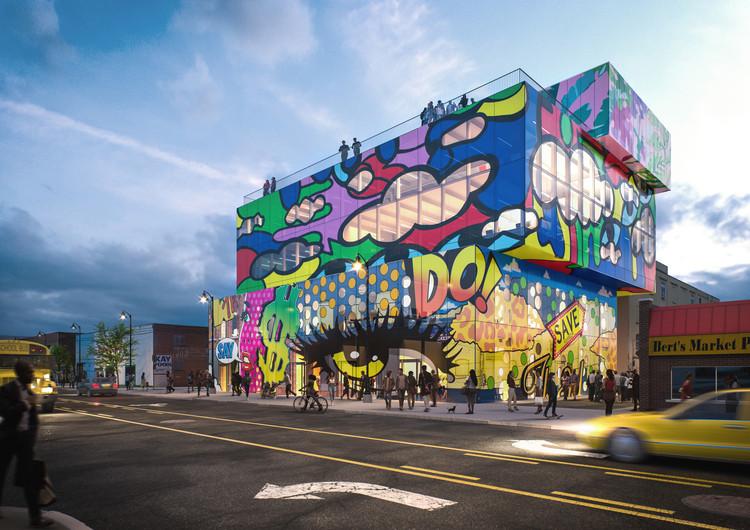 MVRDV presenta 'Glass Mural', un nuevo complejo de uso mixto en Detroit, © MVRDV