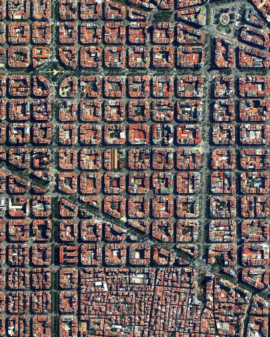Barcelona, Spain. Source imagery: @digitalglobe