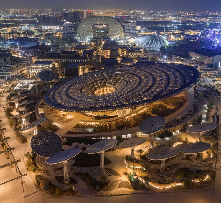 Expo Dubai 2020 divulga novas imagens dos pavilhões nacionais, Expo Drone Shot - Sustainability Pavilion by Grimshaw Architects. Image Courtesy of Expo 2020 Dubai