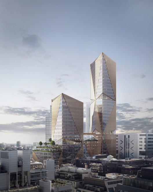3XN projeta um campus vertical no centro de Londres, Cortesia de 3XN
