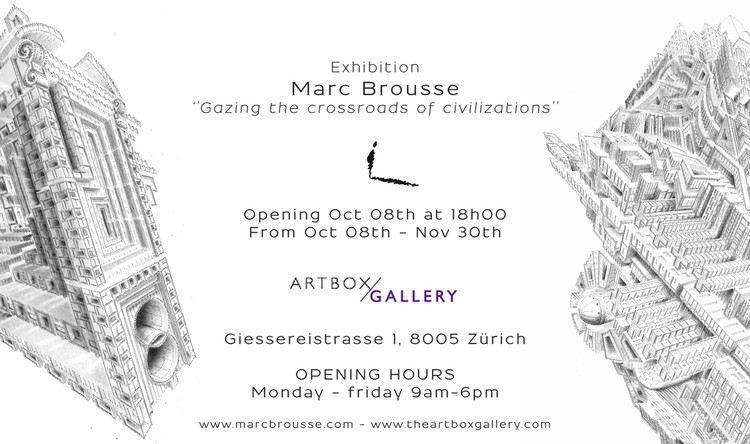 """""""Gazing the Crossraods of Civilizations"""" by Marc Brousse at ArtboxGallery"""