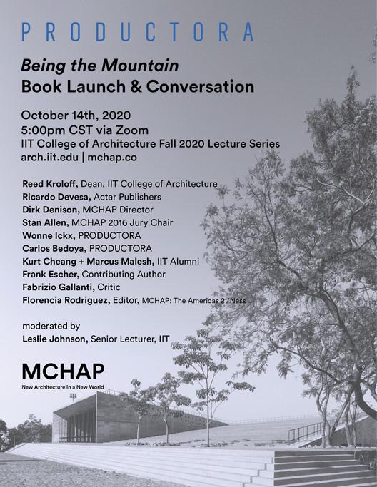 PRODUCTORA, IIT y Mies Crown Hall Americas Prize presentan el libro 'Being the Mountain'