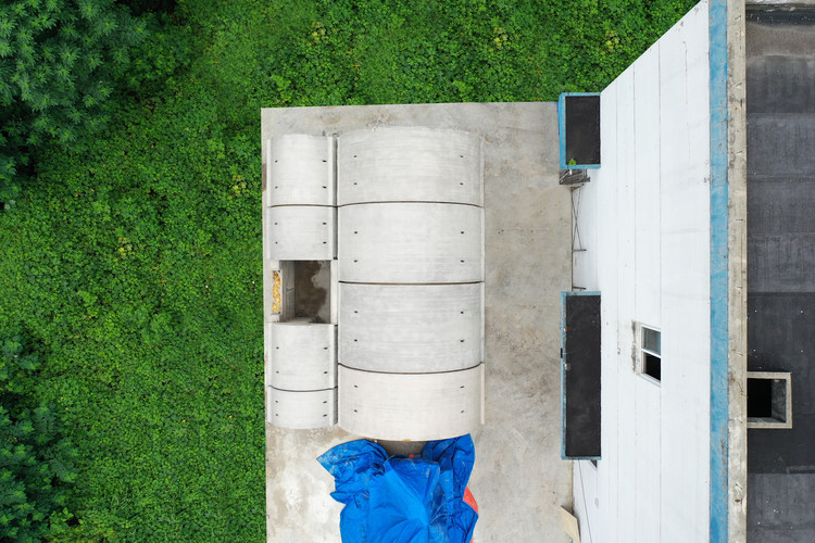 View from top. Image © XWG Archi Studio at Tsinghua University
