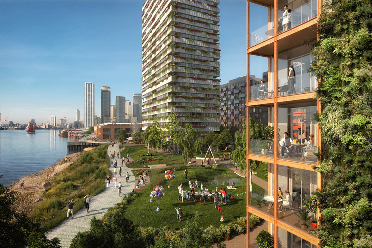 U+I Reveals New Images of OMA-Designed Morden Wharf, a Mixed-Use Neighborhood on Greenwich, London, © Pixelflakes