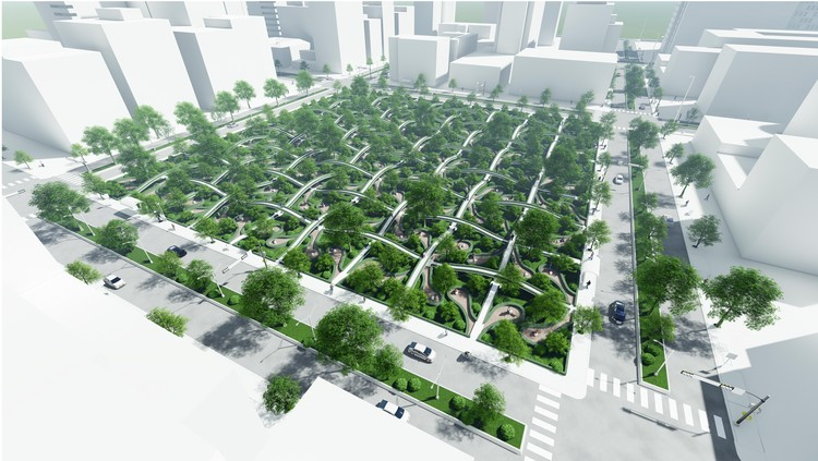 Seoul City Architectural Ideas Competition: Preparing for the Post COVID-19 Era, The Invisible Facemask. Image Courtesy of Seoul City Government