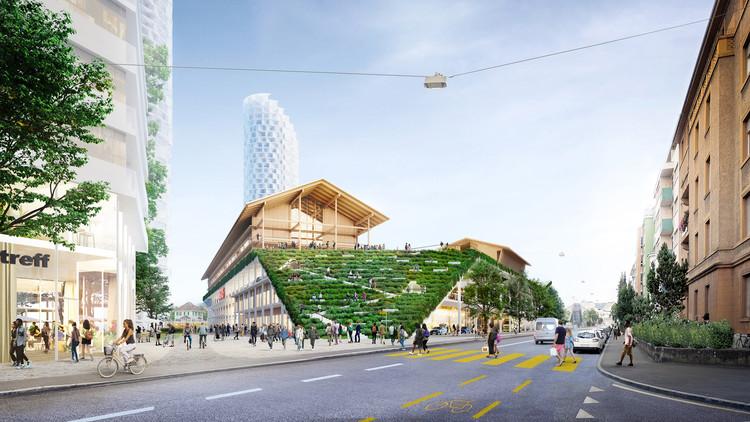 Herzog & de Meuron projeta escola na cobertura de um shopping center na Suíça, Cortesia de Herzog & de Meuron