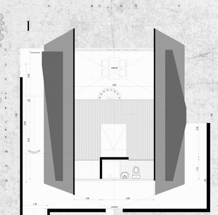 El área mínima de vivienda: ¿Quién determina los espacios más pequeños permitidos en Latinoamérica?, Planta Vivienda Social Rural / Estación Espacial Arquitectos