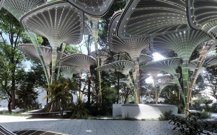 Mask Architects projeta estações de resfriamento para ilha de calor em Abu Dhabi, Cortesia de Genc Design Studio