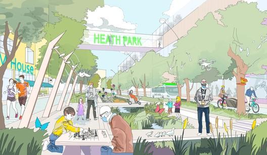 EcoResponsive Environments Wins RIBA Competition to Envision Runcorn's Future in the U.K.