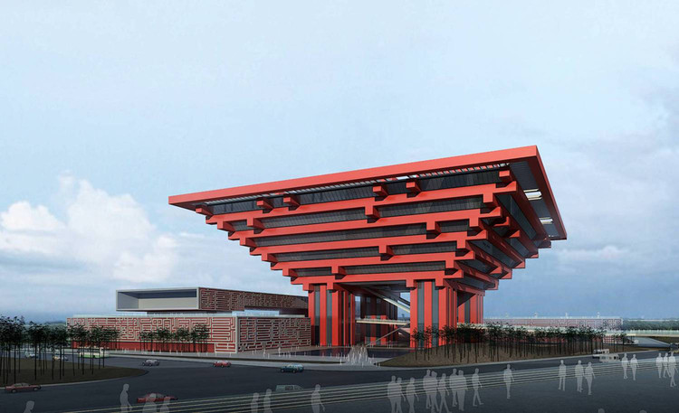 China Pavillion for Shanghai World Expo 2010. Image Courtesy of He Jingtang